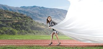 Running in a hurry! Royalty Free Stock Photo