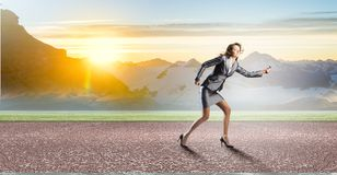 Running in a hurry! Royalty Free Stock Photos