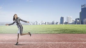 Running in a hurry! Royalty Free Stock Images