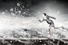 Running in a hurry Stock Photos