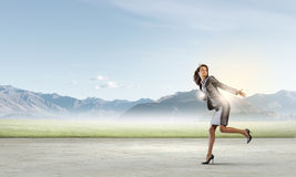 Running in a hurry Stock Photography
