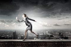 Running in a hurry Royalty Free Stock Photos