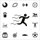 Running icon. Detailed set of Sport icons. Premium quality graphic design sign. One of the collection icons for websites, web desi. Gn, mobile app on white Royalty Free Stock Photos