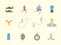 Running Icon Set Stock Photography