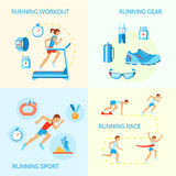 Running icons composition Royalty Free Stock Photography