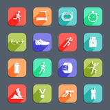Running Icons Flat Stock Photos