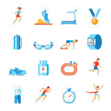 Running icons flat Stock Image