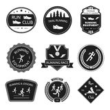 Running icons label Stock Photography