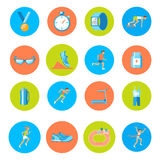 Running icons round Stock Images