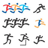 Running icons Royalty Free Stock Photo