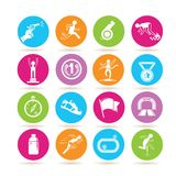Running icons Royalty Free Stock Image