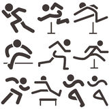 Running icons Royalty Free Stock Photos