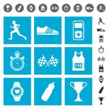 Running icons Stock Photo
