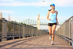 Running In City Stock Images