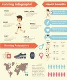 Running infographic Stock Photo