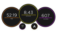 Running interface with data informations isolated on a backgroun. View of a Running interface with data informations isolated on a background - sport concept Royalty Free Stock Images
