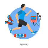 Running and Jogging Concept Royalty Free Stock Images