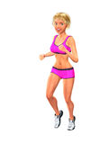 Running Jogging Healthy Poster Girl Illustration Stock Photography