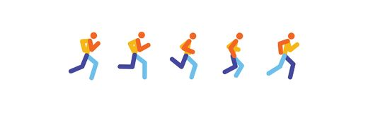 Running and jogging people. Sport run people silhouette, illustration run and jogging people. runing motion. vector. Running and jogging people. Sport run people Stock Images
