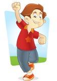 Running with joy Stock Photo