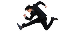 Running & Jumping Businessman Stock Photography
