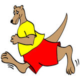 Running Kangaroo Royalty Free Stock Photo