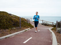 Running keeps me so alive Stock Photos