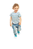 Running kid boy Stock Photo