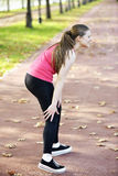 Running knee injury and pain Royalty Free Stock Images