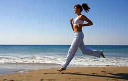 running kvinna Arkivbilder