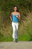 running kvinna arkivfoton