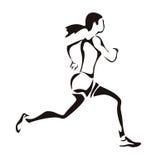running kvinna Fotografering för Bildbyråer