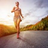 running kvinna royaltyfri bild