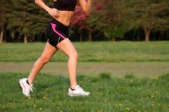 running kvinna royaltyfri fotografi