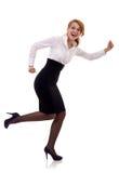 running kvinna för affär royaltyfria bilder