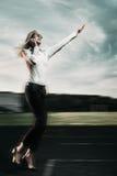 running kvinna för affär Arkivfoton