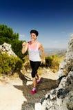 running kvinnabarn Royaltyfria Bilder
