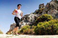 running kvinnabarn Arkivfoto