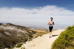 running kvinnabarn Arkivbilder
