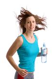 running kvinnabarn Royaltyfri Fotografi