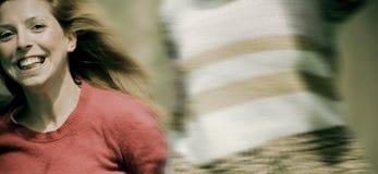 running kvinnor Arkivbild