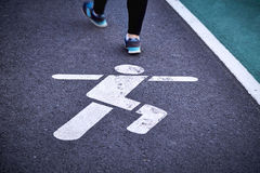 Running lane Stock Photos