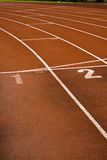 Running lanes Royalty Free Stock Images