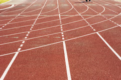 Running Lanes, 2. Running lanes at a college track and field stadium Stock Images
