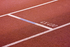 Running lanes on a track Stock Photo