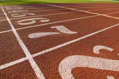 Running Lanes on a Track Stock Image