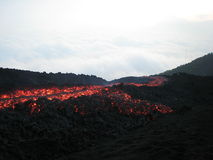 The running lava Royalty Free Stock Photo