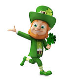 Running Leprechaun for st. patrick's day Royalty Free Stock Photo