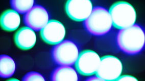 Running lights bokehs stock footage