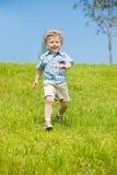 running litet barn royaltyfria foton